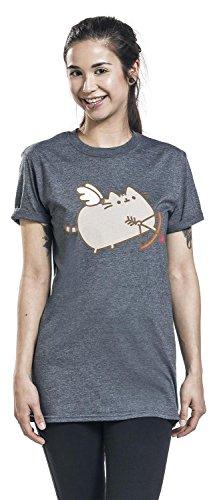 Pusheen Love Cat T-shirt Femme gris foncé gris foncé