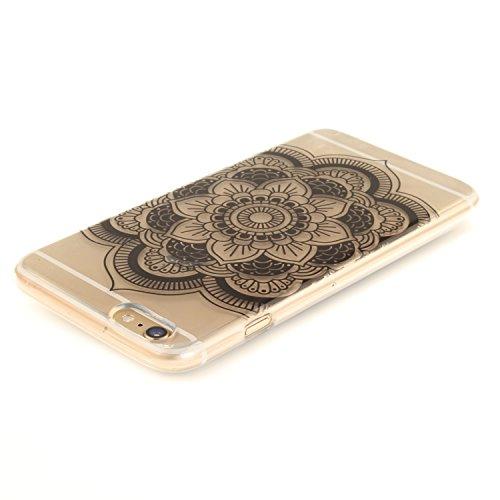 Coque iPhone 6S Plus,Étui iPhone 6 Plus,iPhone 6S Plus/iPhone 6 Plus Case,ikasus® Coque iPhone 6S Plus/iPhone 6 Plus Silicone Étui Housse [Conception IMD et cadre en silicone TPU] Téléphone Couverture Tournesol noir