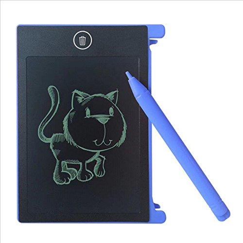 LCD Schreibplatte 4,4 Zoll sunnymi Ultra-dünn Papierlos Familienbotschaft Klassennotizen, Entwürfe,Leicht, Einfach, Eine Nachricht, Büro zu Verlassen (Blau, 280 * 185 * 10MM) (Tragen Set Tröster)
