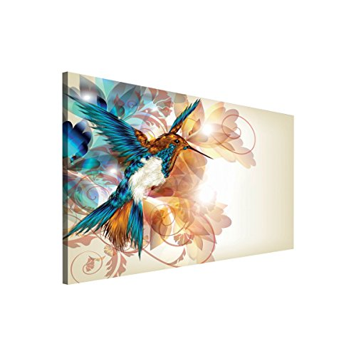 FORWALL CANVAS PICTURE WALL ART PRINT COLORFUL HUMMINGBIRD 260 O1 (Hummingbird-wand-hängen)