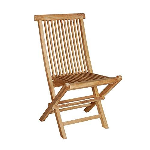 Chaise de Jardin en Bois de Teck Pliante
