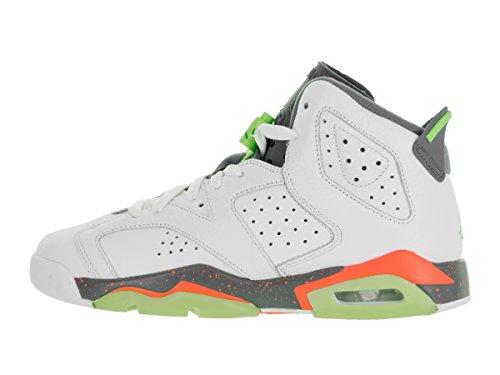 Nike White / Ghst Green-Hst-Brght Mng, Scarpe da Basket Bambino Bianco (Blanco (White / Ghst Green-Hst-Brght Mng))