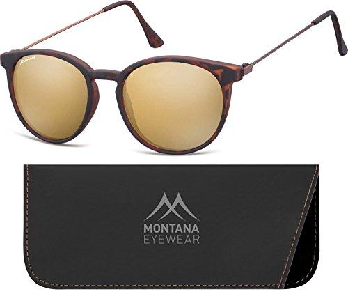 Montana Eyewear Unisex Sonnenbrille MS33 (Schildkröte / Revo Gold)