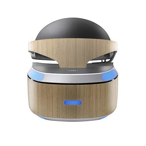 Skins4u Aufkleber Design Schutzfolie Vinyl Skin kompatibel mit Sony PS4 Playstation 4 VR Brille Eiche
