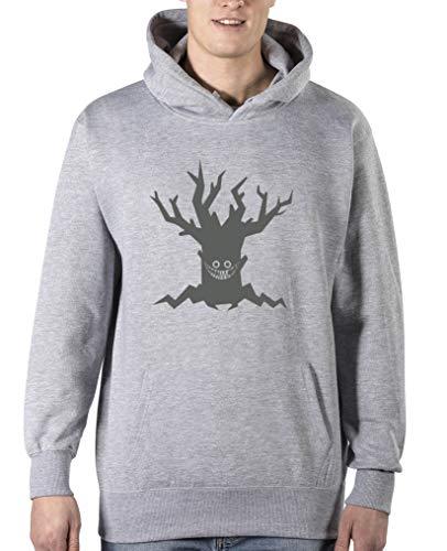Comedy Shirts - Boeser Baum - Halloween - Herren Hoodie - Grau/Grau Gr. 5XL