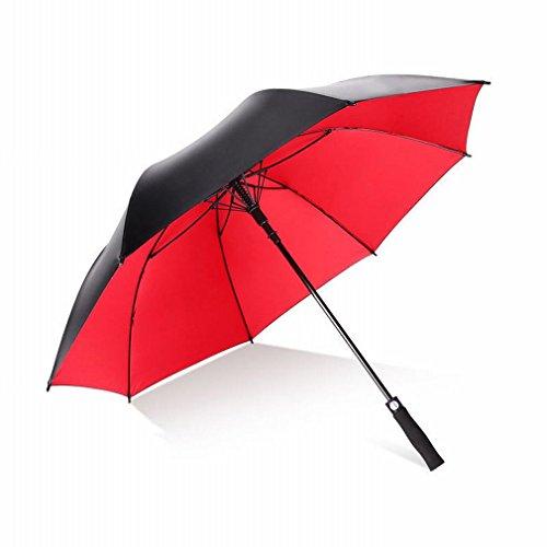 S umbrella une Version Unique de la Qualité Commerciale du Parapluie de Golf Tout-Fibre à Fibres Ultra-Légères Ombre à Manches Longues,Noir