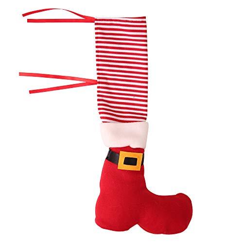 Cvbndfe Gute Qualität Weihnachtsschmuck Tisch Füße Cover Home Stuhl Schutzhülle Kreativ Dress Up for ()