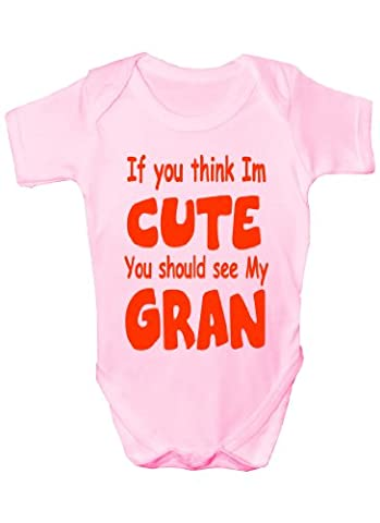 Think m Cute I See My Granny ~~Cadeau Body Bébé Fille/Garçon-Gilet de bébé