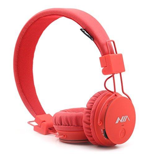 Am Wiederaufladbare Fm-radio, Sony (GranVela® X2 Over-Ear-Bluetooth-Kopfhörer, faltbar 4 in 1 Stereo Kinder Kopfhörer-drahtlose freihändige Kopfhörer mit Mikrofon und MicroSD Card Player, Radio, AUX für iPhone, Samsung und mehr (rot))