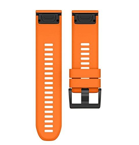 Jintime Armband Für Garmin Approach S60 Smart Watch GPS Watch Band Ersatz Weiches Silikon Bügel Sport Uhr Wrist Für Männer/Dame (Orange) (Garmin-uhr Damen Band)