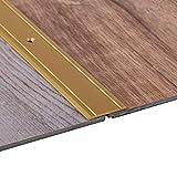 Gedotec Übergangsprofil Aluminium Boden-Leiste Küche Übergangs-Schiene zum Schrauben | 100 cm | Bodenprofil Alu Messing massiv | Ausgleichsprofil flach gelocht | 1 Stück