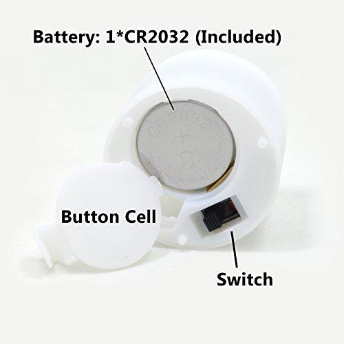 WHCREAT 8 PCS Patrón de madera mágico sin llama Fósforo remoto LED Luces de Té, Ola Top, blanco cálido de luz intermitentes