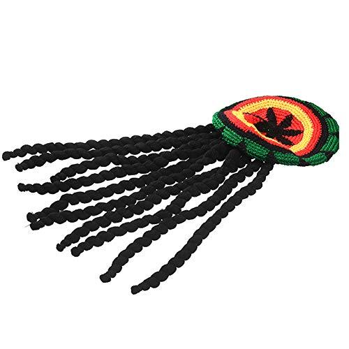 Kostüm Marley Bob Frauen - Lankater 1pc Rasta Stil Reggae Cap Hiphop Rap Winter-Übergroße Strickmütze Halloween Deko-Kappe Für Männer Frauen
