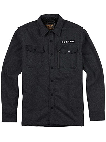 Burton - Chemise Ml Harbour Wool Homme - Taille:one Size DARK ASH HEATHER