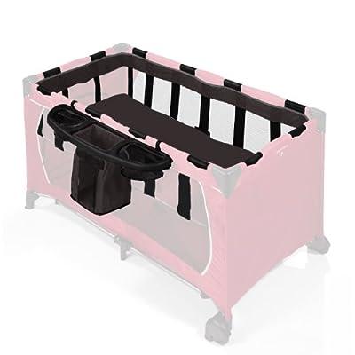 Hauck 599082 - Accesorio para cuna de viaje y organizador con compartimentos, color negro (no incluye colchón, ni cuna)