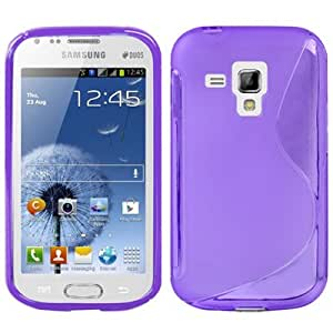 S Line TPU Protection Case for Samsung Galaxy Trend Duos / S7562 (Purple)
