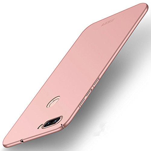 HDOMI Asus Zenfone Max Plus (M1) ZB570TL Hülle, Hohe Qualität & Super Thin Cover Hart PC Schutzhülle für Asus Zenfone Max Plus (M1) ZB570TL (Rose Gold)