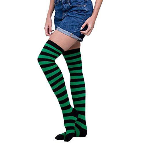 Kniestrümpfe Damen Hansee Frauen Sexy Oberschenkel Hoch über Dem Knie Socken Mädchen Lange Strümpfe (E) (Knie Argyle Hoch)