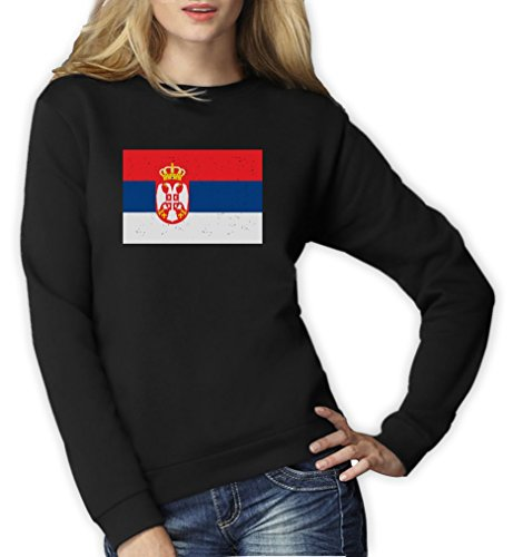 Drapeau de la serbie Sweatshirt Femme Noir