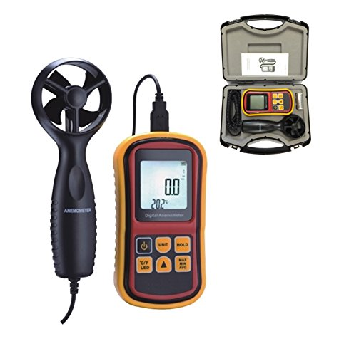 CE APPROVED DIGITAL ANEMOMETER WIND SPEED AIR VELOCITY METER THERMOMETER USB LCD by Digital Micrometers Ltd