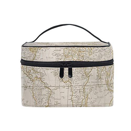 Tragbare hängende Make-up Kosmetiktasche Tasche,Makeup Bag Antique Maps Archives Cosmetic Bag Portable Large Toiletry Bag for Women/Girls Travel