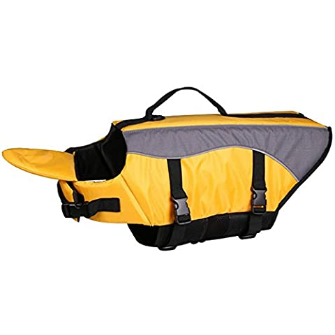 Pingxia Dog Life Jacket / Outward Hound Life Jacket Quick Release Easy-Fit Adjustable Pet Reflective Floatation