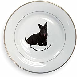 Scottish -Terrier-Hund - With Love Blattgold Felgenplatten Geschenkbox Weihnacht