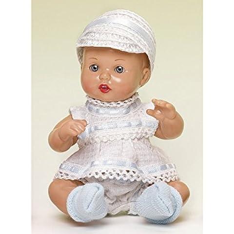 Mini Juanin Bebé Conjunto Blanco y Azul con Gorra