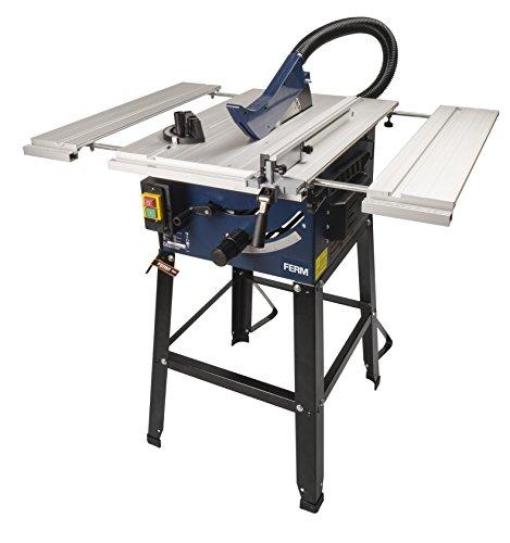 Preisvergleich Produktbild FERM TSM1033 Tischkreissäge 250mm - 1800 Watt - Ausziehbare Aluminium Arbeitstisch - Vakuum-Adapter - Winkelanschlag und Parallelführung - Inkl. T40 (TCT) Sägeblatt
