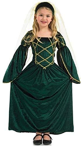 Fancy Me Mädchen Kinder Reich Lang Voll Länge Grün Tudor Mittelalter Mädchen Büchertag Kostüm Kleid Outfit 4-12 Jahre - Grün, Grün, 4-6 Years