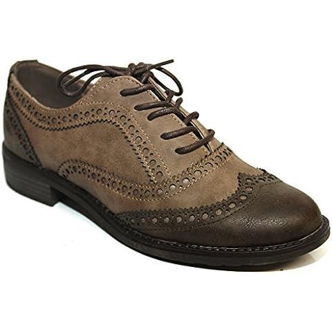 Marco Tozzi - Zapatos de cordones de Material Sintético para mujer Marrón marrón