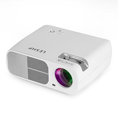 GraceU 3200 Lumen Projektor LCD Full HD Beamer BL20 Multimedia Heimkino Unterstützt 1080P, Home Cinema Theater für Telefon / Laptop / PC / SD Karte / Play Station / TV Box / Xbox / USB Disk (Weiß)