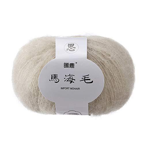 DIY Weiches Mohair stricken Wolle Garn Schal häkeln Thread Supplies Kunsthandwerk Handstrickgarn Strickgarn Warm Natürliche Strick Crochet Strickwaren Häkeln Strickwolle Mohair Häkelgarn Stricken (C) -