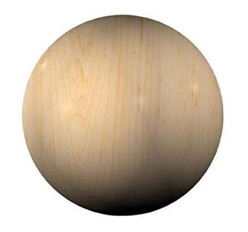 jowe sfera in legno di faggio con foro, marrone