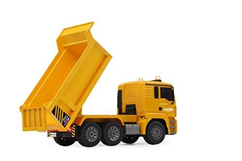 RC Baufahrzeug kaufen Baufahrzeug Bild 1: Jamara 405002 - Muldenkipper MAN 1:20 2,4G - Kippmulde hoch / runter, realistischer Motorsound, Hupe, Rückfahrwarnsound, 4 Radantrieb, gelbe LED Signallichter, programmierbare Funktionen*