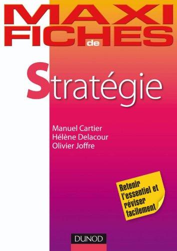Maxi fiches de Stratégie par Manuel Cartier