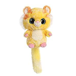 Aurora Yoohoo and Friends Tumo-Tiger World-Peluche (Tamaño pequeño), Color Amarillo y Blanco, Rosa y Naranja