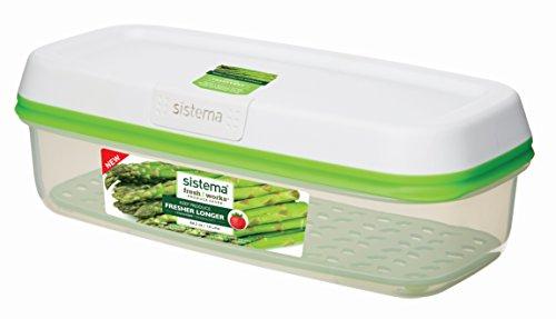 Sistema freshworks 1,9litros rectangular recipiente de almacenamiento, 30,3x 14,2x 10,1cm)