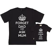 SR - Keep Calm Ask Dad T-Shirts - conjunto de regalo para padres y