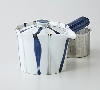 Saikai poterie Togusa Motif Kyusu Théière Japonaise avec super inoxydable Passoire à partir du Japon 60188