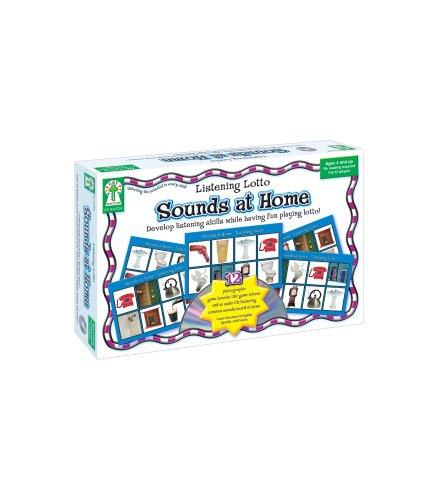 Listening Lotto: Sounds at Home [With 120 Game Tokens and 12 Game Boards and CD (Audio)] - Pre K-spiele