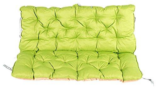 Meerweh Auflage mit Rückenteil für Bank ca. 120 x 98 x 10 cm, Grün/Beige, 20060