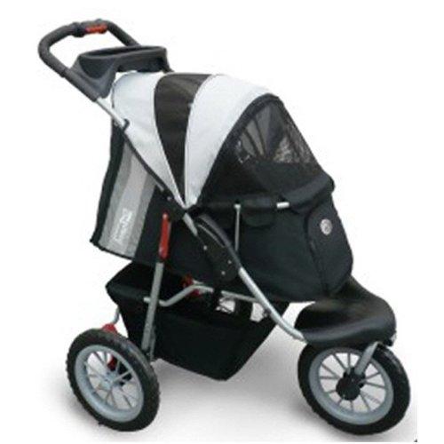 InnoPet® Comfort EFA Hundebuggy Hundewagen Hunde buggy black/silver bis 30kg
