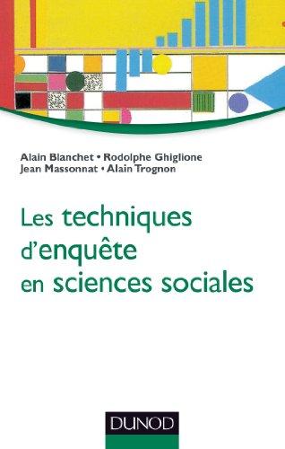 Les techniques d'enqute en sciences sociales