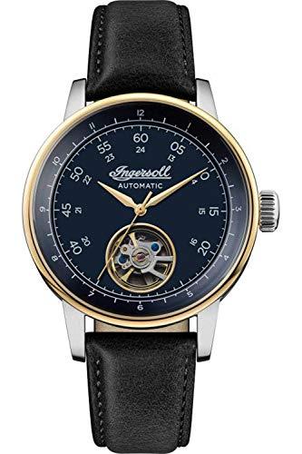 Ingersoll The Miles Reloj para Hombre Analógico de Automático con Brazalete de Piel de Vaca I08002