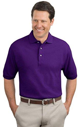 Port Authority Herren Groß und hoch Knit Polo Shirt violett