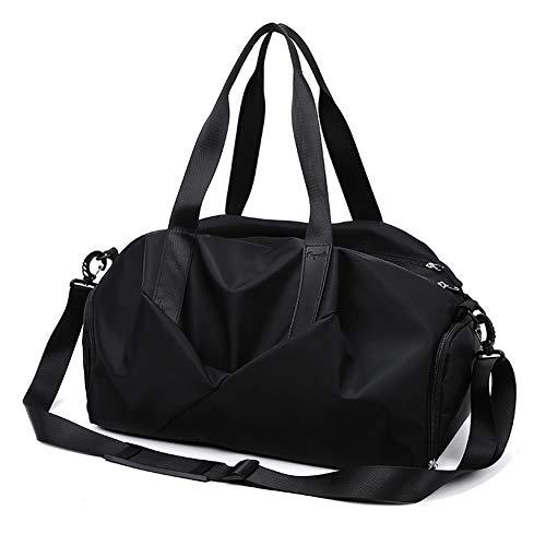 LXFENG Sport-Sporttasche Mit Schuhfach Und Nasser Tasche, Reisetasche Duffles-Taschen Overnight Weekend Weekender-Tasche Für Männer Und Frauen (Farbe : Schwarz)