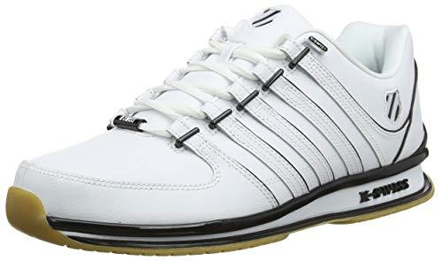 K-Swiss Herren RINZLER SP Sneaker, Weiß (White/Black/Gum 168), 42 EU