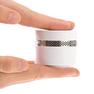 REV Mini Rauchmelder Design 1 Stück - Feuermelder optisch ansprechend, dezent, klein und dennoch sicher nach DIN EN 14604 – Brandmelder mit 10 Jahres Batterie, kein Batteriewechsel nötig