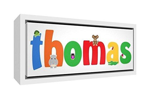 Little Helper Napperon avec Coaster Style Illustratif Coloré avec le Nom de Jeune Garçon Ismael